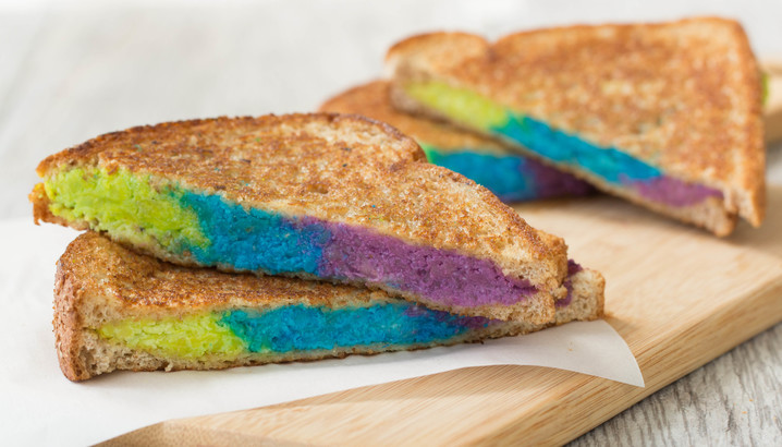 Hungry-Girl Video: Rainbow Grilled Cheese