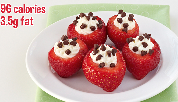 Hungry-Girl Video: How To… Make Chocolate-Chip-Stuffed Strawberries