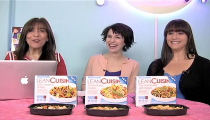 Hungry-Girl Video: Sponsored Video: HG Chews Lean Cuisine Meals at the HG HQ!